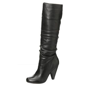 Jessica Simpson 'Angie' Black Leather Boots